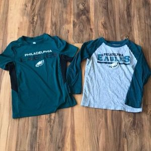 Eagles lot size 5/6 shirts.